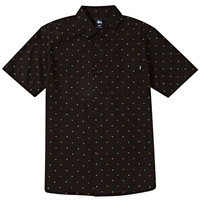 Stussy: Confetti Button Down Shirt - Black