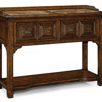 "Tudor 54"" Marble Server, Dark Oak/Brown, Buffets & Sideboards"