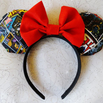 Star Wars Mickey Ears, Star Wars Comic Book Ears, Disney Ears, Minnie Mouse Ears, Star Wars