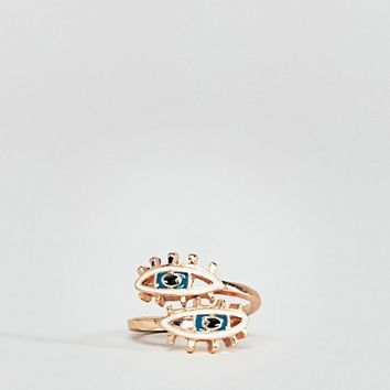 Reclaimed Vintage inspired double eye ring at asos.com