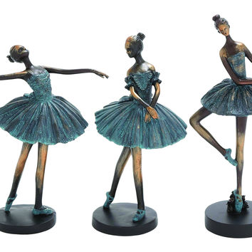 Set of 3 ballerina figurines
