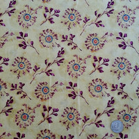 Sand Flower Vine, Blank Textiles, Cotton Fabric, Fabric by the Yard or Half Yard, Cotton Quilt Fabric, Art Quilt Fabric,Desert Flower Fabric