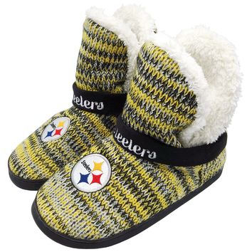 Pittsburgh Steelers Official NFL Wordmark Peak Boot - Womens