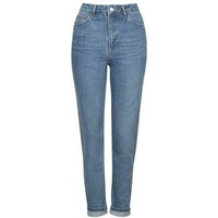 Topshop Moto Pretty Blue Mom Jeans