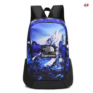 Supreme & The North Face Fashion New Letter Graffiti Print Women Men Travel Leisure Backpack Bag 4#