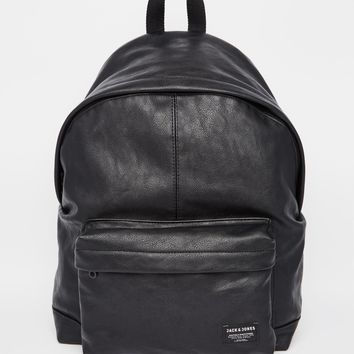 Jack & Jones Backpack in Faux Leather