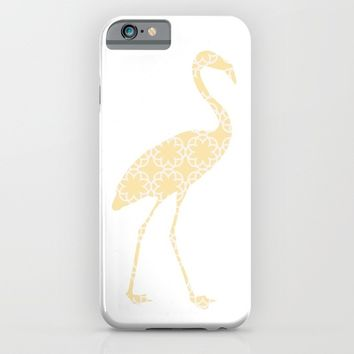 FLAMINGO SILHOUETTE WITH PATTERN iPhone & iPod Case by deificus Art