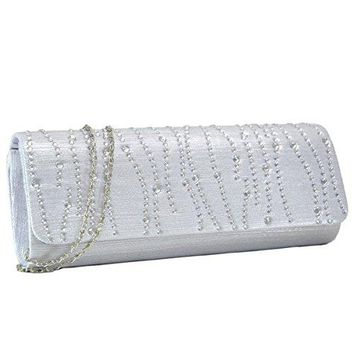 Woman Evening Bag Clutch Purse Rhinestone Crystal Glitter Party Handbag