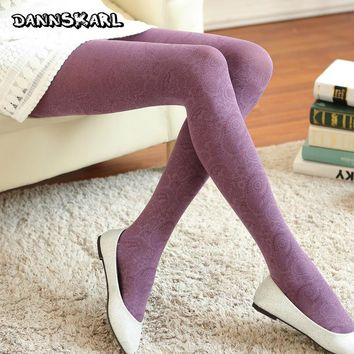 Winter Women Tattoo Tights Peacock Totems Women Pantyhose Retro Style Tights Women Velvet Female Silk Stockings Autumn Hosiery