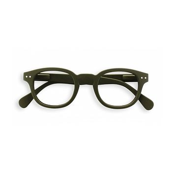 Izipizi - #C Kaki Green Eyeglasses / Screen Blue Light Clear Lenses