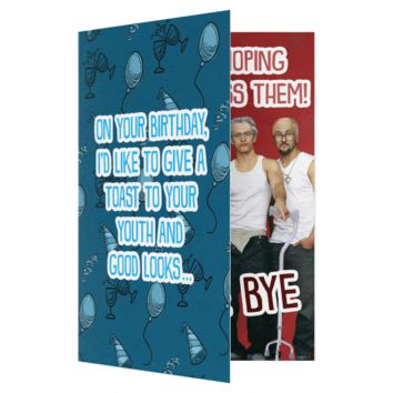 *NSYNC Bye Bye Bye Happy Birthday Card (PLAYS SONG)