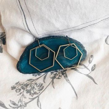 Fate & Coincidence - Double Hex Earrings