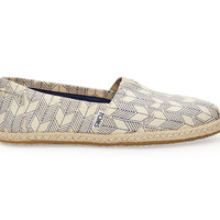 TOMS Whisper Canvas Sashiko Women's Classics Natural