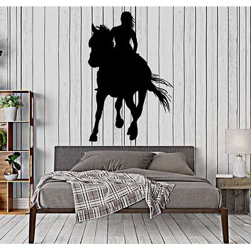 Wall Decal Girl And Horse Romantic Nature Livign Room Interior Decor Unique Gift z4051