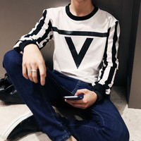 Port wind digital printing hedging sweater