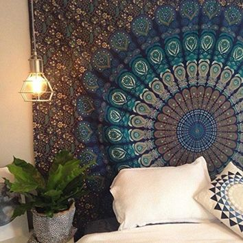 DCCKJG2 2016 Two Size Indian Mandala Tapestry Hippie Wall Hanging Tapestries Boho Bedspread Beach Towel Yoga Mat Blanket Table Cloth