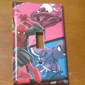 Spider-Man Comic Book superhero light switch cover