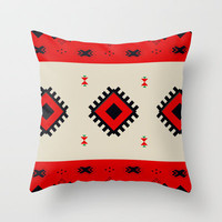 Romanian Pattern Throw Pillow by Catalin Anastase