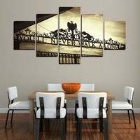Canvas HD Printed Framework 5 Pieces You Will Never Walk Alone Paintings