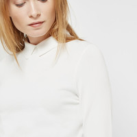 Knitted collar top - Cream | Sweaters | Ted Baker
