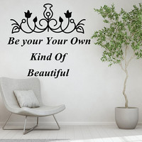Beautiful Quote Wall Decal/ Inspirational Quote Wall Sticker/ Spa Salon Wall Decor/ Beauty Salon Quote/ Personalized Decal/ Custom  nm048