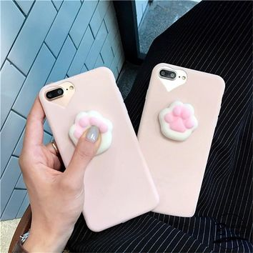 Cat Squishy Phone Case for iPhone 5s 8 X 6 3D - Soft Silicone