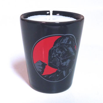 Darth Vader Candle - Soy Shot Glass Candle - Star Wars Force is Strong