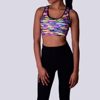 Multi-Colored Sports Bra