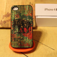 Wood Elephant / Native / Tribal Aztec Indian Pattern Apple Iphone 4 / 4s Case