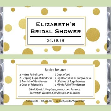 Glamorous Bridal Shower Candy Bar Wrapper