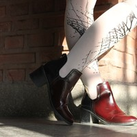 Spider Web Patterned Tattoo Tights LookBook by The Vulgarian Girl - TrendyLegs