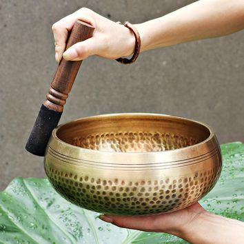 Authentic Nepal Hand Hammered Copper Singing Bowls