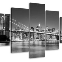 "Picture 6402 on canvas length 40"" height 20"" New York pictures ready to hang framed , brand original Visario!"