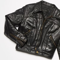 Free People Vintage 1970s Leather Motorcycle Jacket