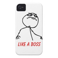 Like a Boss Iphone 4 Case-mate Case from Zazzle.com