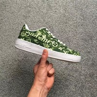 Supreme X Lv X Nike Air Force 1 Af1 Green Sneaker Shoe Size 36 45 | Best Deal Online