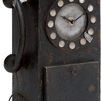 0-015548>Vintage Style Phone Decorative Clock