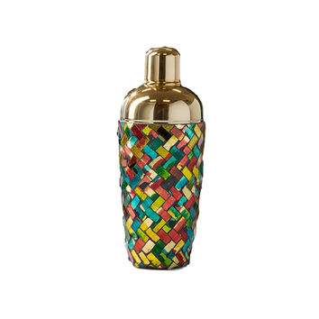 Multicolor Mosaic Glass Cocktail Shaker