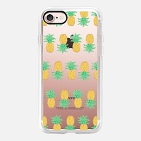 Pineapple Stripes - Transparent/Clear Background iPhone 7 Case by Lisa Argyropoulos | Casetify