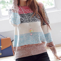 A 080520 Striped Pullover Knitted828