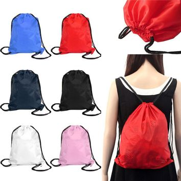 2017 Men Women Bag Girls Nylon Drawstring Cinch Sack Sport Travel Outdoor Backpack Bag Waterproof Camping Hiking Handbag Jan9YP