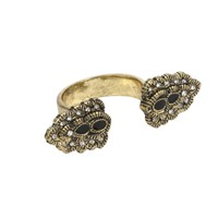 Bella Epoch Ring in Black and Brass