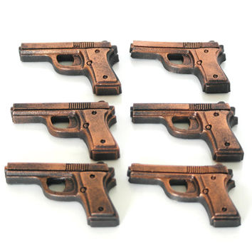 Handcrafted Rustic Gun Soap Set of 6