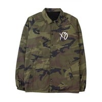 XO CROWD CAMO COACH JACKET