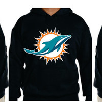 Dolphins  Unisex Hoodie  Miami Florida Women  Men with sleeves printed S- 5XL sizes