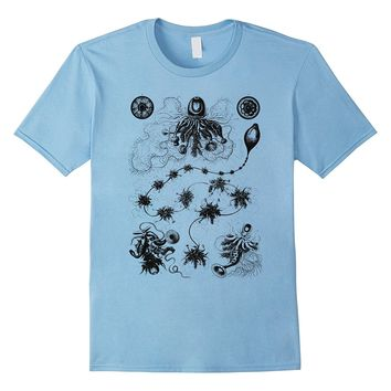 Ernst Haeckel Siphonophora Science Art Tee T-shirt
