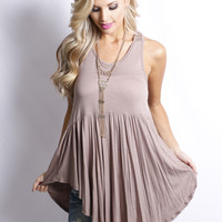Turn it Up Tank: Mocha