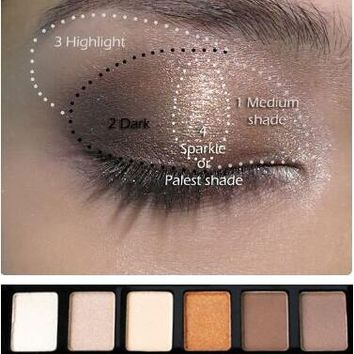 Make-up Stylish Eye Shadow Makeup Palette Natural Eye Makeup Light 12 Colors Eye Shadow Makeup Shimmer Matte Eyeshadow Palette Set Brand Sugar Box [11604392975]