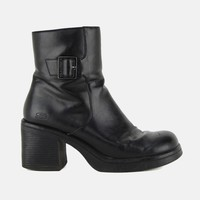 To The Limit Chunky Buckled Ankle Boots