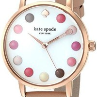 Leather Strap Metro Makeup Watch kate spade new york Water resistant to